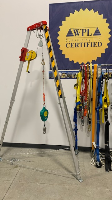 Confined Space Entry Training with Tripod in Vaughan, Toronto, Mississauga, Brampton, Markham